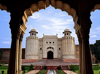 Lahore Fort - A view of the fort's iconic Alamigiri Gate