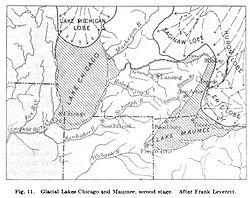 Lake Arkona and Lake Chicago (after Leverett) 1913.JPG