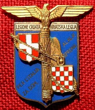Light Transport Brigade (Independent State of Croatia) - Croatian Legion Badge