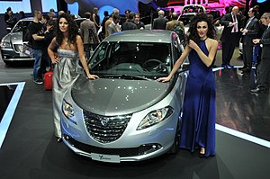 Lancia Ypsilon at the 2011 Geneva Motor Show. ...