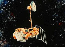 Artist's rendering of Landsat 5.
