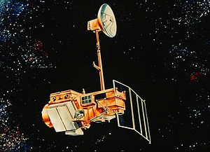 Landsat 4 - Artist's rendering of Landsat 5, which is identical to Landsat 4.