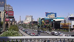Las Vegas Strip south, Tropicana ave