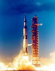 Saturn V starts ar Apollo 4