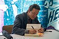 Lawrence Wright signing Going Clear.jpg