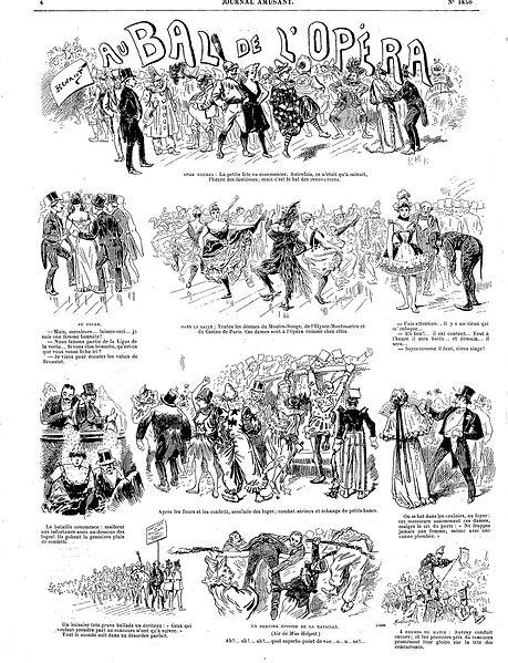 File:Le Journal amusant - 13 février 1892 - Au bal de l'Opéra - par Henriot.jpg