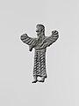 Lead figure of a winged goddess, possibly Artemis Orthia MET DP118296.jpg