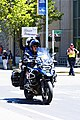 Lead motorcycle arriving on L Street in Sacramento at the end of Stage 3 (34785005451).jpg