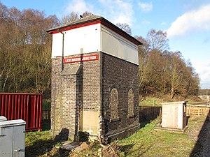 Churnet Valley Railway - The signal box at Leekbrook Junction