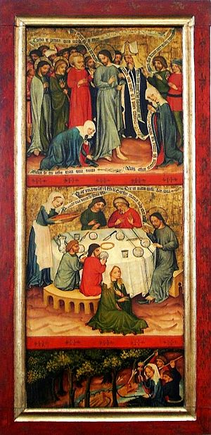 Scenes of the legend of Saints Mary and Martha
