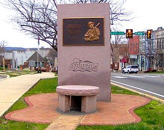 Lester Flatt - Lester Flatt memorial in Sparta, Tennessee