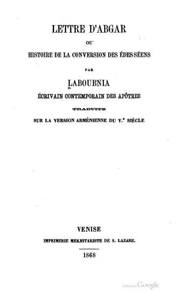 File:Lettre d'Abgar, 1868.djvu