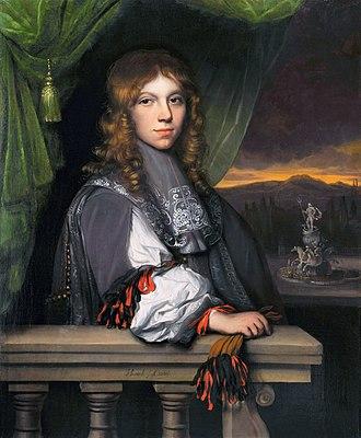 Jacob Levecq - Portrait of Mattheus Eliasz van den Broucke, painted in 1665.