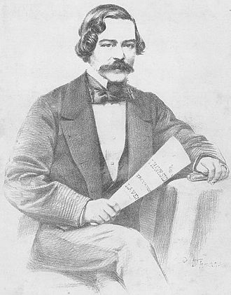 Lewis Henry Lavenu - Engraving of Lavenu on the cover of his work Molly Asthore