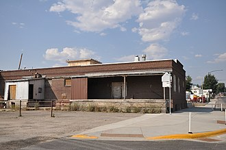 National Register of Historic Places listings in Fergus County, Montana - Image: Lewistown MT Gamble Robinson Company Warehouse
