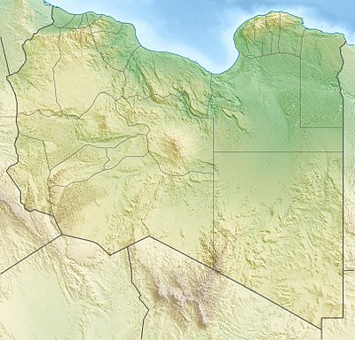 Location map Libya
