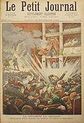 Die Explosion in der Oper, Zeichnung auf dem Titelblatt des Petit Journal