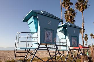Leadbetter Beach - Lifeguard Towers on Leadbetter Beach