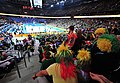 Lithuania national basketball team fans in Zalgiris Arena.jpg