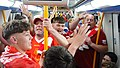 Liverpool fans on the Madrid subway just minutes after winning the Champions League 2018-2019 (2).jpg