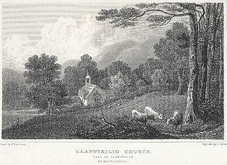 Llantisilio Church: vale of Llangollen, Denbighshire