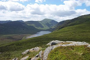Llyn Eigiau - from the summit of Clogwynyreryr
