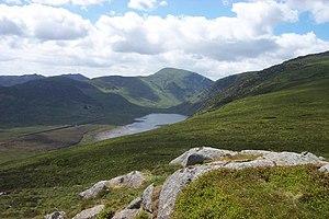 Llyn Eigiau - from the summit of Clogwynyreryr