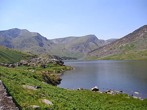 Nant Ffrancon Pass - Llyn Ogwen (near the summit of the Nant Ffrancon Pass), taken from the A5.