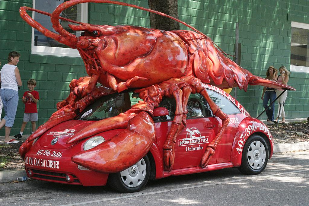 File:Lobster Car in Orlando, Florida.jpg - Wikimedia Commons