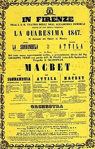 1847 galası için tiyatro bileti