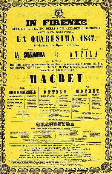 Poster for the premiere of Verdi's Macbeth Locandina macbeth a firenze, 1847.jpg