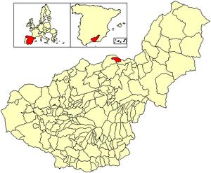 Alicún de Ortega - Image: Location Alicún de Ortega