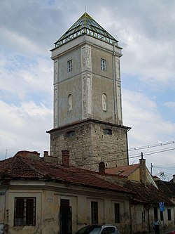 [Imagine: 250px-Locksmiths_Firemen_Tower_Cluj.JPG]