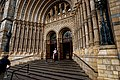 London - Cromwell Road - Natural History Museum 1881 by Alfred Waterhouse - View NW at the Entrance on the Terracotta Tiled Façade II.jpg