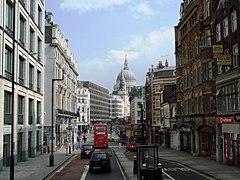 Fleet Street, widok w kierunku wschodnim (w tle katedra św. Pawła)