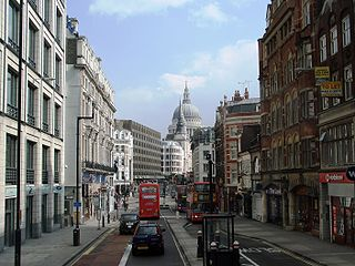 street in the City of London, England