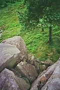 Long drop Whelpstone Crag - geograph.org.uk - 1704605.jpg