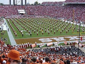 The University of Texas Longhorn Band - The Longhorn Band performing Wall-to-Wall at the 2007 Red River Shootout