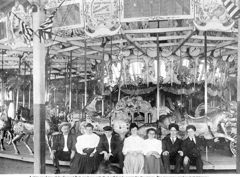 Looff family at Crescent Park mgr c.1905-1910