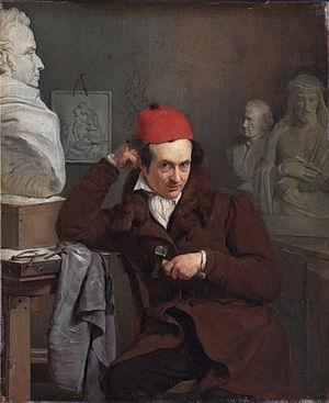 Louis Royer - Portrait of Louis Royer, sculptor. painted by Charles Van Beveren, 1830, Rijksmuseum Amsterdam.