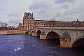 Louvre and Pont Royal, Paris March 2002.jpg