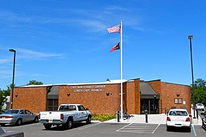 Lower Township, New Jersey - Cape May County Library branch on Bayshore Road