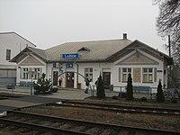 Lužice, okres Hodonín - vlakové nádraží.JPG