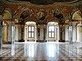 Lubiąż, pałac opatów, 1681-1699 - refektarz klasztorny.JPG