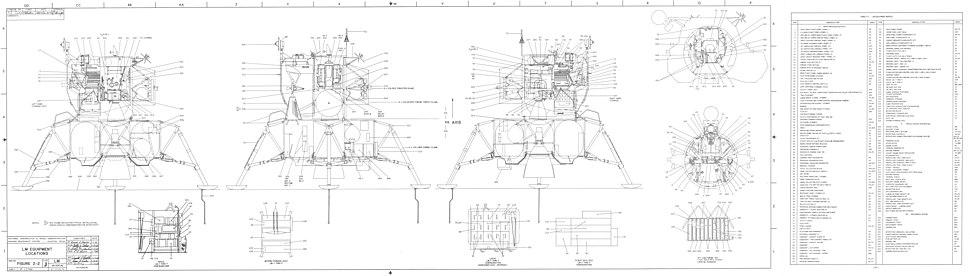 Lunar Module Equipment Locations 1 of 2