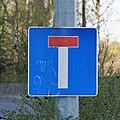 Luxembourg road sign E,14 Kirchberg.jpg