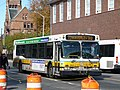 MBTA route 73 bus near Cambridge Common, October 2014.jpg