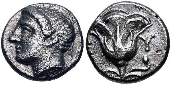 Coinage of Memnon of Rhodes, Mysia. Mid 4th century BC MYSIA, Lampsakos. Memnon of Rhodes. Mid 4th century BC.jpg