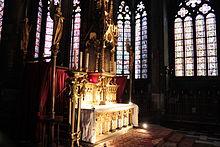 Le maître autel tridentin de la cathédrale.