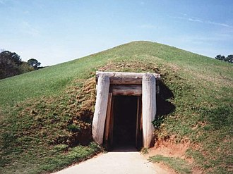 Earth lodge - Image: Macon Ocmulgee Earth Lodge